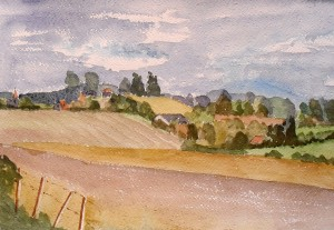 Fields and Farms near Wingham, Kent