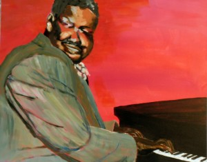 Portrait of Oscar Peterson, the renowned Jazz pianist.