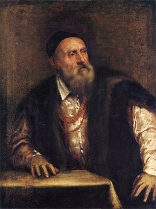 Titian - Self Portrait painted abt 1550 - 1562
