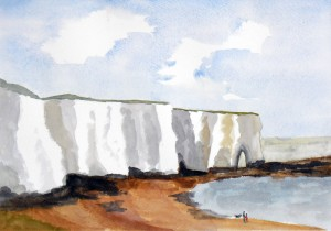 Walkers at Kingsgate Bay, Kent