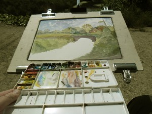 My plein air set up.