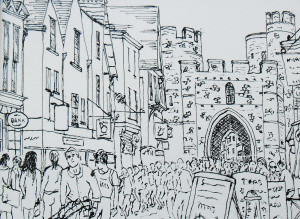 Shoppers and visitors in Westgate Canterbury