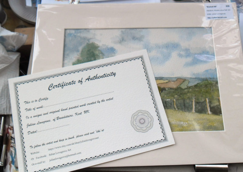 cello wrapping & certificate