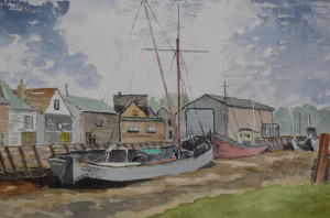 barge at faversham creek