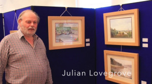 "At the ""Brush with the Broads"" Exhibition 2014 at Ormesby Boathouse"
