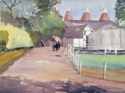 Kent farmyard painting