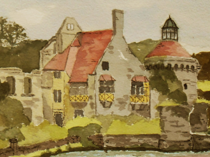 Painting of Scotney Castle