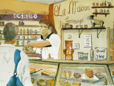 painting of avignon market