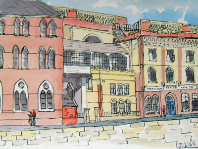 painting of Old ramsgate buildings