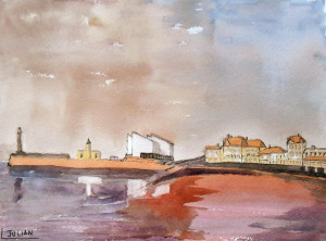 painting Margate evening