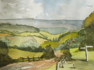Painting of mid - kent view