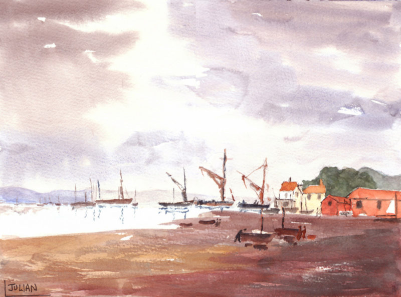 pin mill barges painting