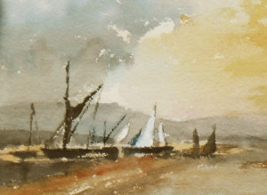 sailing vessels at anchor