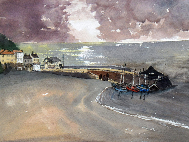 broadstairs at night painting