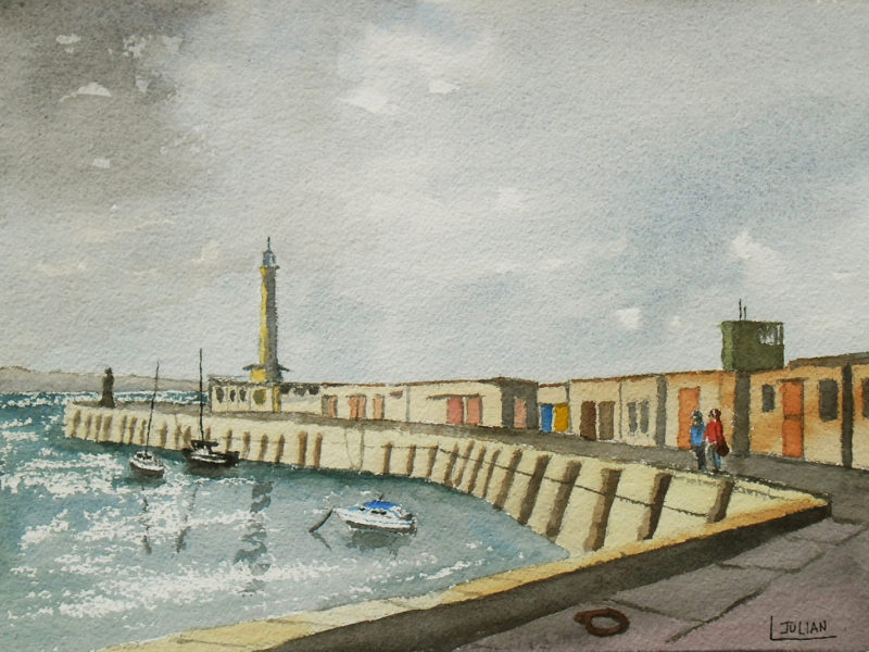 painting of Margate harbour