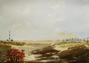 view over Dungeness Kent
