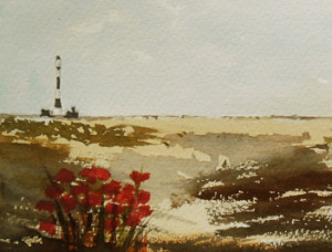 painting of Dungeness Kent