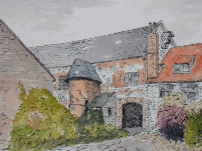 original drawing of Norwich Art School