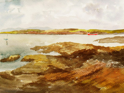 View from Hook Head, Ireland. Painting