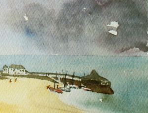 Storm Approaching Broadstairs Painting