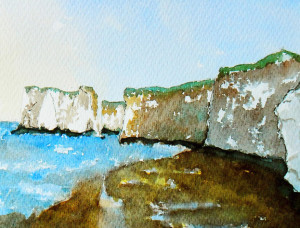 Painting of Botany Bay, Kent