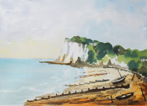Kingsdown Kent watercolour painting