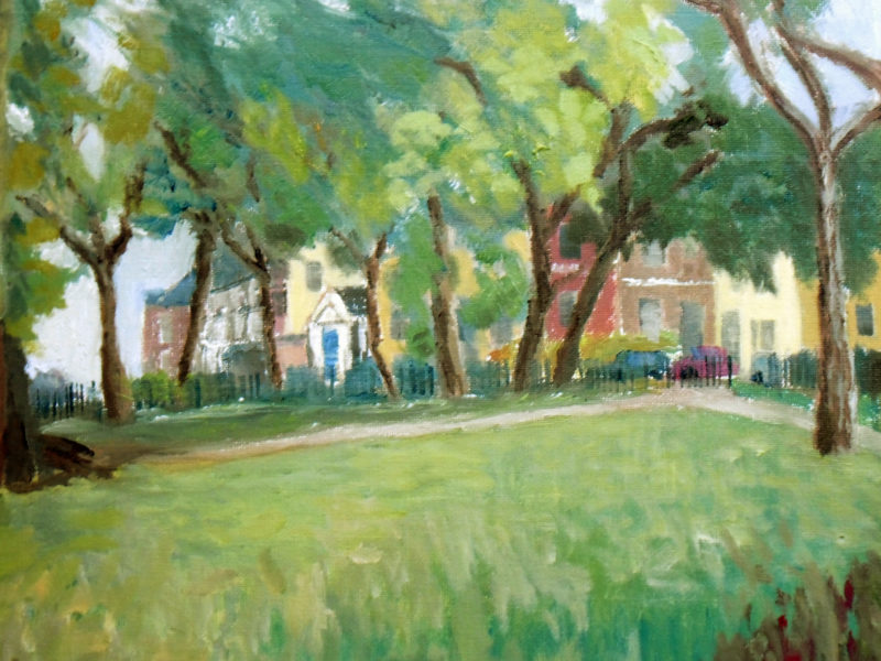 our local park in oils