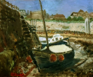 painting of boats at Broadstairs