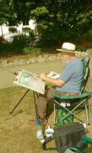 using watercolour last summer