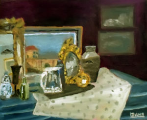 oil painting - still life with antiques