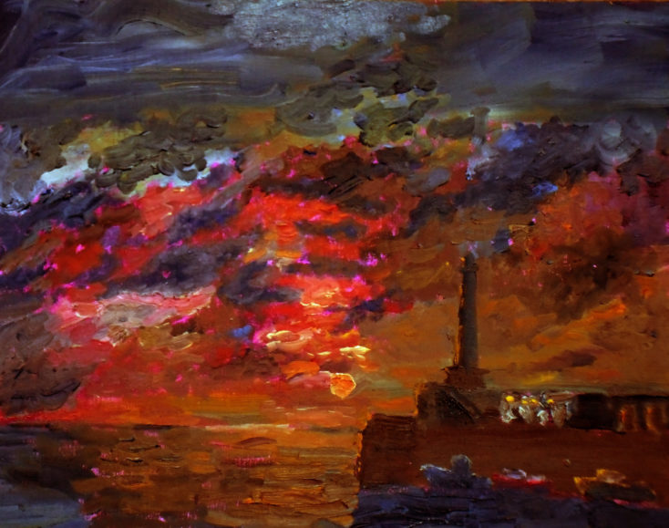 Sunset at Margate in Oils