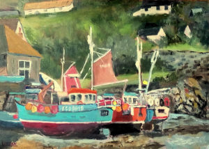 Cadgwith Cove fishing fleet