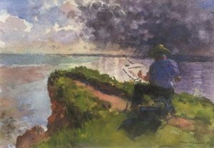 Painting 'plein air' by Steven Alexander